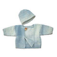 Modell 098/6, Baby-Jacke und Mütze aus Pinta von Junghans-Wolle, 1 versch. Farben