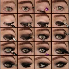 Sexy Smokey Eyes Pictorial by Eline F. Click the pic to see the tutorial. #beauty #makeup #beautybasics