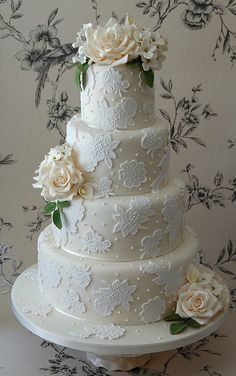 Ivory 4-tier wedding cake