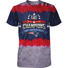 Men s New England Patriots Majestic Navy Red Super Bowl LI Champions  Horizontal Tie-Dye T-Shirt 16e089f98