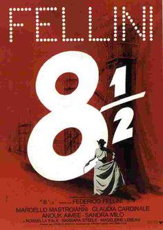 "Federico Fellini's ""8-1/2"" Movie Poster"