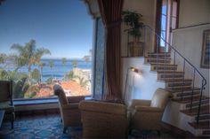 The lobby at La Valencia Hotel, San Diego