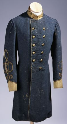 frock coat worn by Lt. Col. Thomas Ruffin of Franklin County, mortally wounded in a Virginia battle, Auburn's Mill, on Oct. 15, 1863.