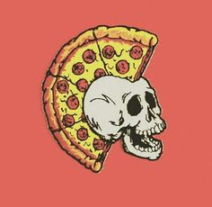 Pizza Mohawk Skull - The world's most private search engine Pizza Tattoo, Pizza Art, Pizza Pizza, Skull Illustration, Grafiti, Arte Pop, Dope Art, Skull Art, Graffiti Art