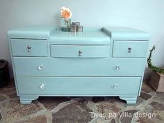 Duck egg blue vintage dresser