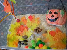 October sensory tub