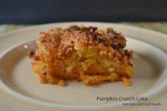 Pumpkin Crunch Cake Recipe- Hot Eats and Cool Reads