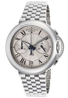 Women's No. 8 Diamond Automatic Silver Guilloche Dial Stainless Steel