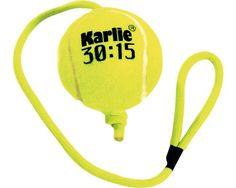 Tennisball mit Seil 8 cm, gelb