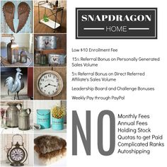It's been 3 weeks now and I am having SO much fun with Snapdragon Home!  I am so happy I spent the $10 to do this!  If you want in, even to save a little bit of dough on products for your own home, let me know!  It's been WELL WORTH IT!