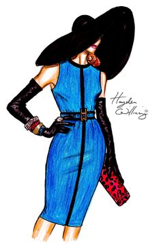 Hayden Williams Fashion Illustrations: High Society by Hayden Williams Moda Fashion, I Love Fashion, Fashion Dolls, Fashion Art, High Fashion, Fashion Design, Fashion Trends, Fashion Illustration Sketches, Illustration Mode