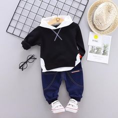 Spring Autumn Children Boy Girl Clothing Sets Baby Leisure Letter Cotton Hoodies Pants Fashion Kids Clothes Tracksuits We offers a wide selection of trendy style women's clothing. Affordable prices on new tops, dresses, outerwear and more. Dresses Kids Girl, Kids Outfits Girls, Girls Party Dress, Baby Boy Outfits, Girls Sweater Dress, Baby Girl Sweaters, Fashion Kids, Trendy Fashion, Latest Fashion