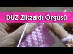 Düz ZikZaklı Örgü Modeli #örgü #bebek #hırka #knitting #battaniye - YouTube