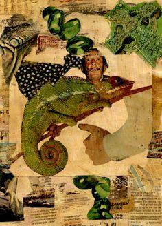 25-TESOROS del COLLAGE.  Pintura Mixta Collage.  Tamaño 30x21 cm.    http://www.artmajeur.com/es/artist/carmenluna/collection/tesoros-del-collage/1229405