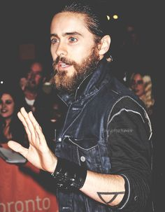 Jared at TIFF12 - Despite the beard, this picture ain't half bad.