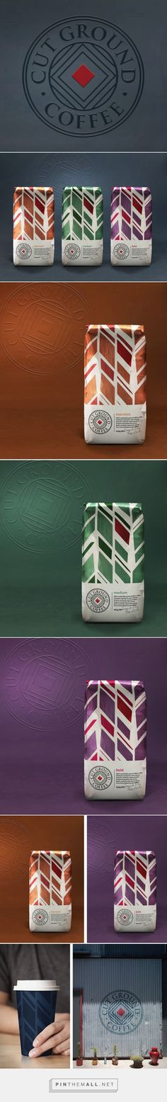 Cut Ground Coffee packaging design by Our Revolution (Australia) - http://www.packagingoftheworld.com/2016/06/cut-ground-coffee.html