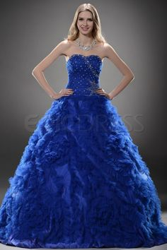 Luxurious Ball Gown Floor-length Sweetheart Quinceanera Prom Dress.
