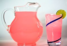 Pics For > Pink Lemonade Pitcher