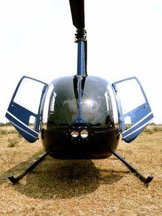 Robinson Helicopter  Doors open -  Summer !