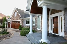 Regarding Shape: How to Design Cohesive Garage and Entry Doors Garage Entry Door, Double Front Entry Doors, Custom Garage Doors, Old Garage, Garage Door Design, Custom Garages, Design Consultant, Curb Appeal, House Plans