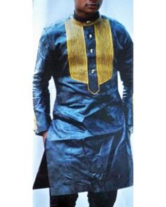 English Men's Designer Clothes African Attire Linen Design