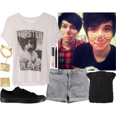 """""""Being Weird With Dan And Phil"""" by samantha-hannum on Polyvore"""