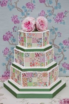 patchwork cakes   Patchwork cake