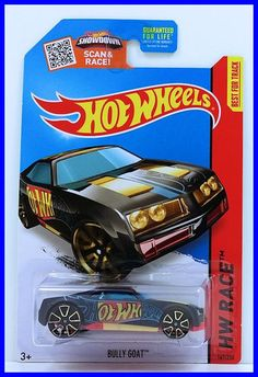 2015 Hot Wheels HW RACE Bully Goat 147//250 Black Version