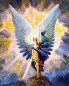 Archangel Michael - the Divine Protector.  I've asked him to always be by my side (and you can too!) - mostly to be the bouncer of my own ego and negative thoughts, ha!