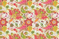 Paisley Floral Seamless Pattern by Sunny_Lion on Creative Market