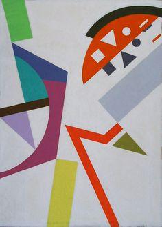 Yuri Yudaev  Pattern # 9. 1998  Maimeri Polycolor Acrylic on paper   Юрий Юдаев. Паттерн Nº 9. 1998. Бумага, акрил  Polycolor 57 x 39 см  #YuriYudaev #painting #geometry #HardEdge