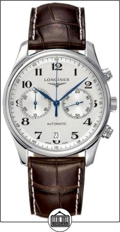 Master Chronograph Silver Dial Brown Leather Men's Watch  ✿ Relojes para hombre - (Lujo) ✿