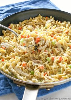 Creamy Chicken Noodle Skillet