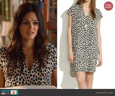 Zoe's white leopard print shift dress on Hart of Dixie.  Outfit Details: http://wornontv.net/44619/ #HartofDixie
