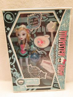 RARE Monster High Doll Original 1st First Wave Lagoona Blue w/Neptuna