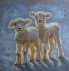 Sheep Paintings, Animal Paintings, Animal Drawings, Watercolor Animals, Watercolor Art, Lamb Pictures, Sheep Art, Barnyard Animals, Sheep And Lamb