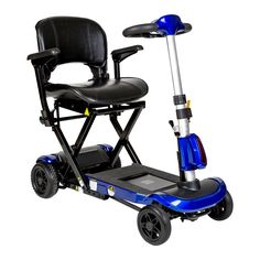 Drive flex-auto ZooMe Auto-Flex Folding Travel Scooter, Blue
