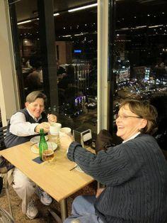 Pati and Lori at El Corte Engles Cafe