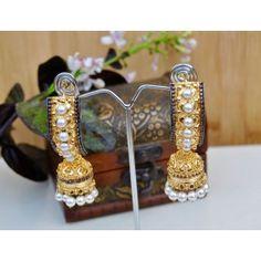 Royal Ethnic Gold Jhumka Earrings
