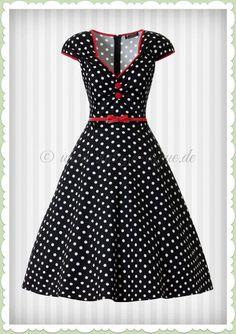 Lady Vintage Jahre Retro Petticoat Punkte Kleid - Isabella - Schwarz Source by Kleider Vintage Outfits, Vintage Dresses, Vintage Fashion, Vintage Clothing, Mode Outfits, Stylish Outfits, Fashion Outfits, Trendy Fashion, Womens Fashion