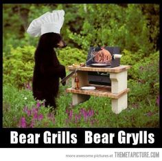 Funny pictures about Bear Grills. Oh, and cool pics about Bear Grills. Also, Bear Grills. Bear Grylls, Funny Bears, Cute Bears, Funny Images, Funny Pictures, Funny Pics, Friday Humor, Just Smile, I Laughed