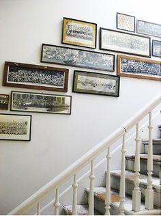 Panoramic photo gallery wall.