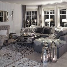8 Gorgeous Rustic Living Room Ideas That Will Melt Your Heart With Warmth Glam Living Room, Cozy Living Rooms, New Living Room, Home And Living, Living Room Decor, Living Room Interior, Interior Design Living Room, Living Room Designs, Living Room Inspiration