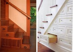 Superieur A Sophisticated Version Of Drawers Built Under Stair Storage6 Stairs  Storage Drawers