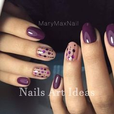 28 Cute Red And White Nail Art Designs To Try This Year - Workout Plan Purple dotty nail art design Flower Nail Art Nail Art Violet, Purple Nail Art, Purple Nail Designs, White Nail Art, Simple Nail Art Designs, Short Nail Designs, Yellow Nail, Purple Manicure, Purple Glitter