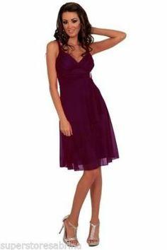 Designer Sexy Empire Waist Prom Cocktail Party Evening Dress H1284 Purple