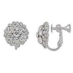 Greta Crystal Clip On Earrings