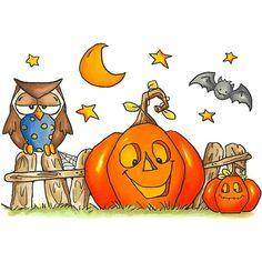 Fall/Winter 2012  Pumpkin Fence - BBY903 Halloween Rocks, Cute Halloween, Halloween Pumpkins, Halloween Crafts, Halloween Decorations, Halloween Stuff, Halloween Painting, Halloween Drawings, Halloween Clipart