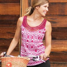 Oreana Tank by Aventura Clothing - Fun and flirty tank that's perfect for summer activities! It would be cute for a barbecue, bike ride along the lake, or a casual happy hour with coworkers.