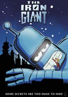 "Another #Bender art because of John DiMaggio's birthday: ""The Iron Giant"" by Nossamatt | #Futurama"